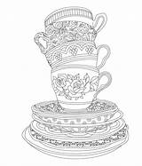 Coloring Tea Pages Adult Elegant Issuu Adults Sheets Coffee Colouring Printable Books Birthday Cup Mad Zdroj članku Malarbilder Mandaly Parties sketch template