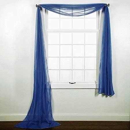 navy window curtains 1 pc solid navy blue scarf valance soft sheer voile window