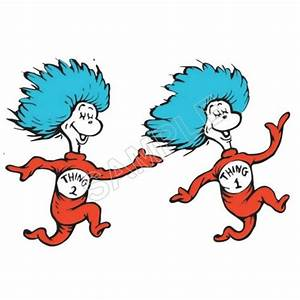 Dr. Seuss Thing1 and Thing2 T Shirt Iron on Transfer Decal #18