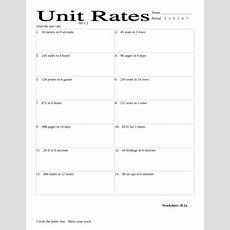 Unit Rates Worksheet By Stone  Teachers Pay Teachers