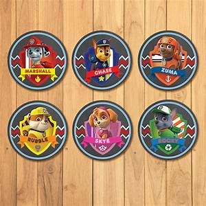 Paw Patrol Cupcake Toppers Chalkboard by PartyPrintables37
