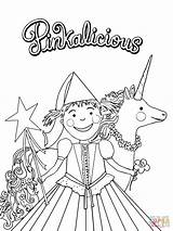 Pinkalicious Coloring Pages Fancy Nancy Printable Party Birthday Printables Crafts Pink Print Sheets Purplicious Supercoloring Paper Unicorn Drawing Templates Template sketch template