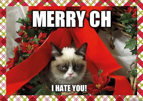 I Hate Christmas Meme - merry ch i hate you merry christmas quickmeme