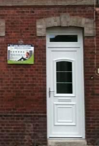 fantaisie porte de garage sectionnelle avec porte d entree With porte de garage sectionnelle avec porte entree pvc renovation
