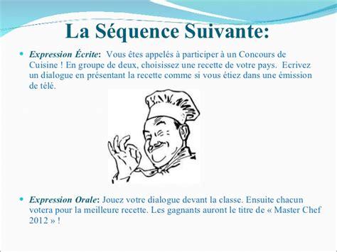 expression de cuisine le cours interculturel la cuisine francophone