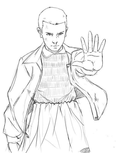 Free Stranger Things coloring pages Eleven   Imprimir ...