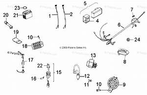 Polaris Atv 2013 Oem Parts Diagram For Electrical  Switches  Harness  U0026 Indicators