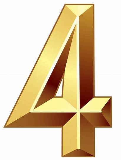 Number Four Numbers Transparent Clipart Lihir Island