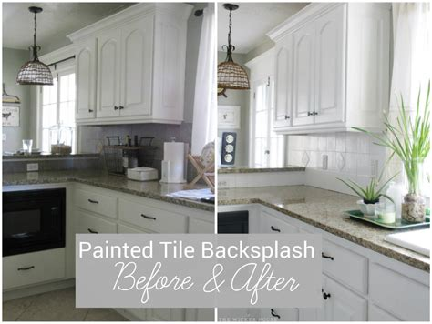 painted  kitchen tile backsplash  wicker house