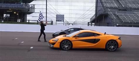 Vs Lamborghini Race by Mclaren 570s Vs Lamborghini Huracan Drag Race Ends With A