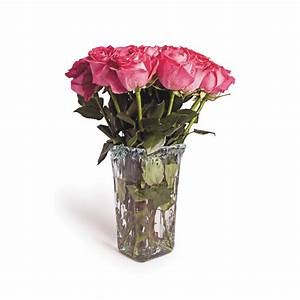Recycled Glass Square Flower Vase - Free Shipping On