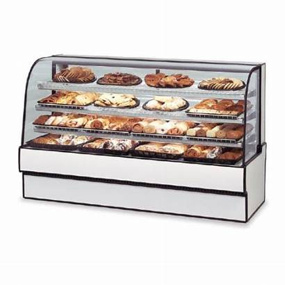 Refrigerated Glass Curved Federal Bakery Case Non