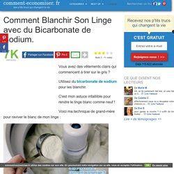 comment faire blanchir du linge blanc bicarbonate de soude pearltrees