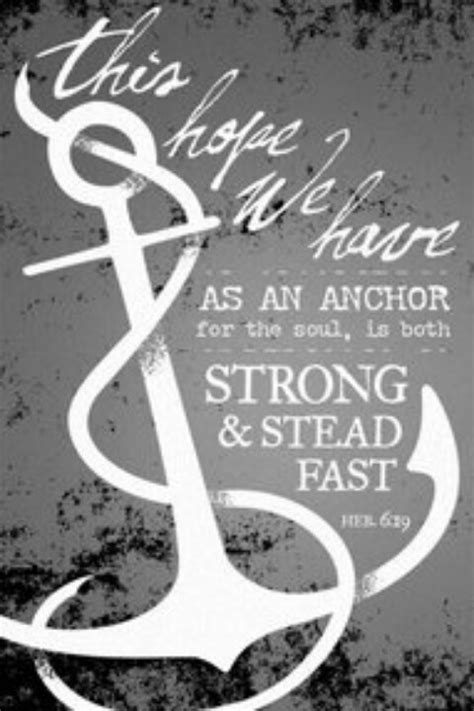 Hope anchors the soul. | mrspeazel