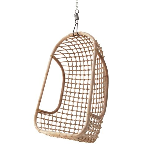 indoor rattan hanging egg chair in finish