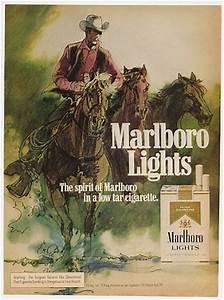 household health adspast com 1975 marlboro lights cigarette cowboy horses