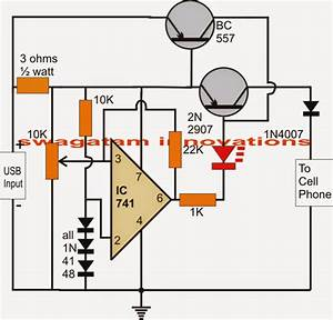 Usb Automatic Li-ion Battery Charger Circuit