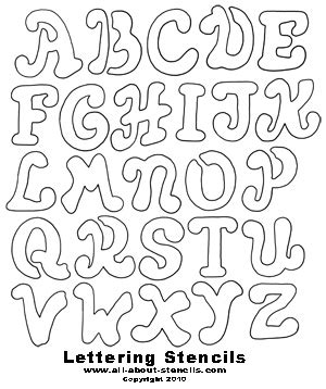printable letter stencils great  school projects