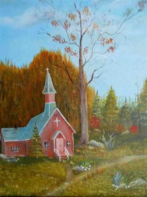 Little Country Church Oil Painting By Al Johannessen