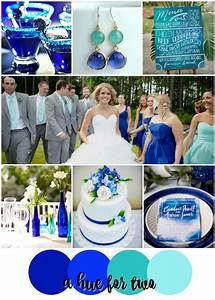 Cobalt and Aqua Shades of Blue Wedding Color Scheme ...