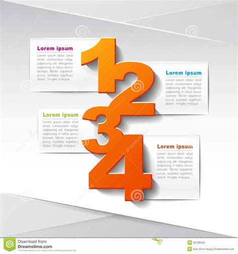 vector abstract  paper infographics stock  image