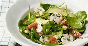 Salat Mit Spinat : avocado spinat salat mit champignons rezept k cheng tter ~ Orissabook.com Haus und Dekorationen