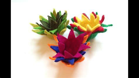 filzen von lotus filzblumen filzblueten felt flowers
