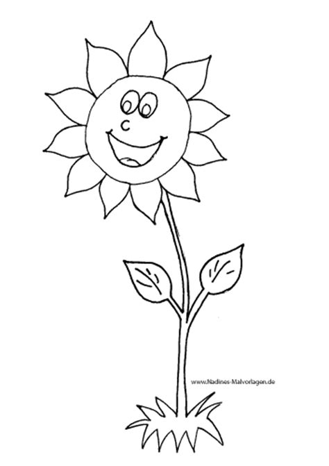 froehliche sonnenblume nadines ausmalbilder