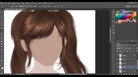 hair tutorial digital painting youtube