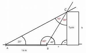 Sinus Cosinus Tangens Winkel Berechnen : dreieck entfernung x zu einem unzug nglichen turm im gel nde bestimmen trigonometrie ~ Themetempest.com Abrechnung