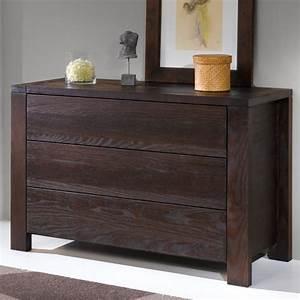 Commode En Bois Massif : meuble commode francais pin massif wenge 3 tiroirs ~ Teatrodelosmanantiales.com Idées de Décoration