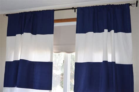 navy blue and white curtains furniture ideas