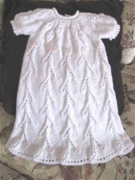 floral trellis christening gown judys knitting page