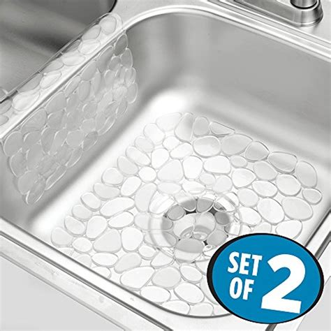 edge guard for undermount sinks mdesign pebbles kitchen sink protector mat and sink