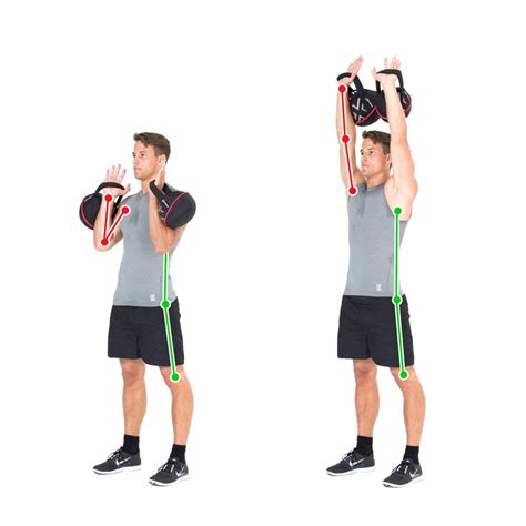 lift kettlebell exercise double shoulder shoulders kettlebells arms press chest ex