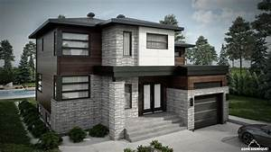 1000 images about facade de maisons on pinterest modern With maison toit plat en l 2 maison neuve toit plat