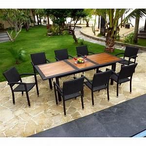 Mobilier Jardin Teck Tribu Accueil Design Et Mobilier