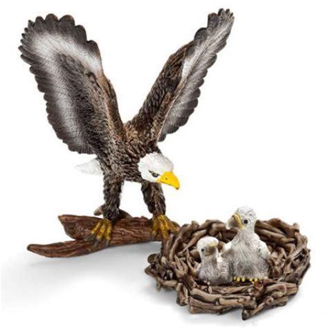 miniature bald eagle  chicks  nest  pieces