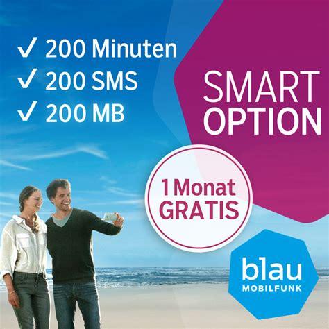 blau prepaid sim karte smart aktion bei notebooksbilligerde