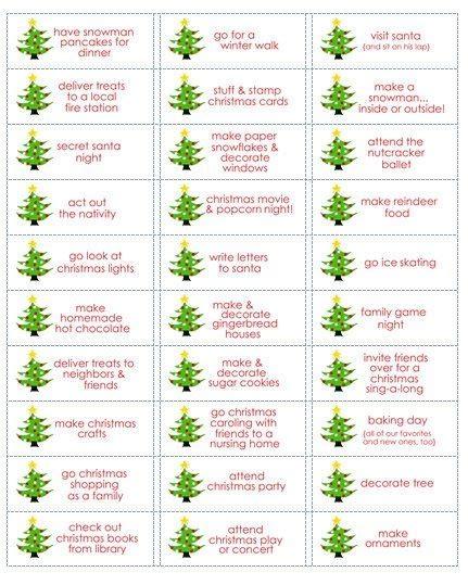 ideas for the advent calendar