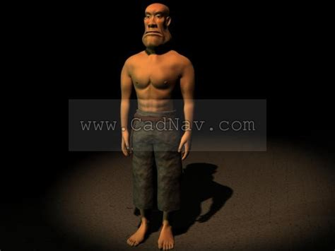 Cartoon Game Male Character 3d Model 3ds Max Files Free
