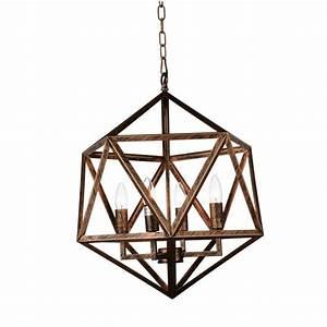 Amazon 3-Light Antique forged copper Chandelier-9641P17-3