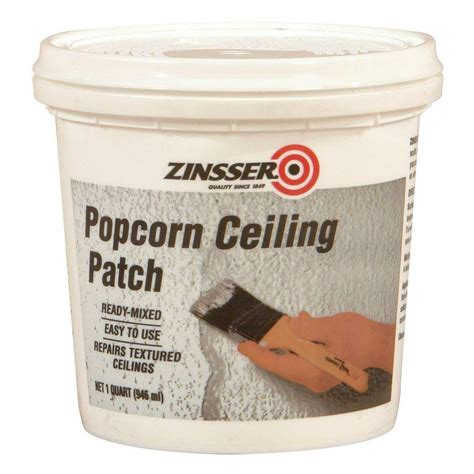 Zinsser Popcorn Ceiling Patch Ready Mixed 1qt by Zinsser 1 Qt Ready Mixed Popcorn Ceiling Patch Of 6