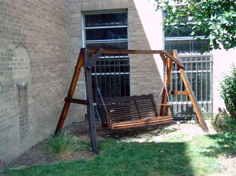 free standing wood porch swings plans free