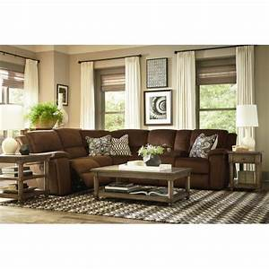 Terrace reclining sectional sofa by bassett comfy for Terrace reclining sectional sofa by bassett