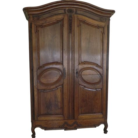 louis xv grand walnut armoire provence 18th century from
