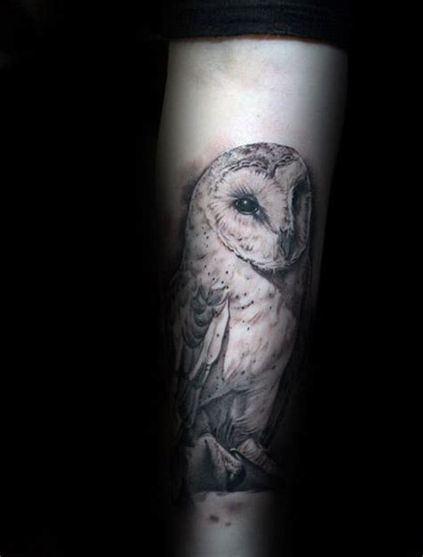 barn owl tattoo designs  men lunar creature ink ideas