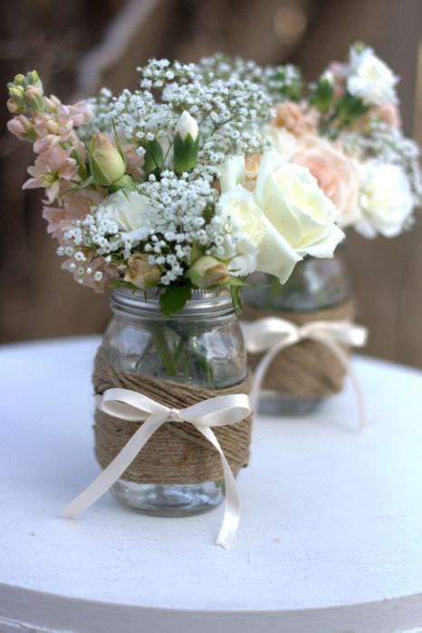 diy tutorial twine wrapped mason jars these would be cute