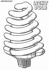 Bulb Coloring Lightbulb Led Colorings sketch template