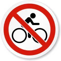 No Bike Riding Sign